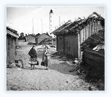 Marjaniemen raittia 1950- luvulla. Todennäköinen valokuvaaja Kullervo Keskinen.