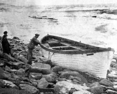 M/S Johanna Thordenin puinen pelastusvene